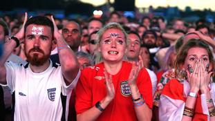 It was a case of 'close but not close enough' for England fans.