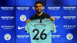 Mahrez is now City's record signing at £60 million