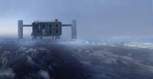 The IceCube laboratory at the South Pole, where scientists made the first ever detection of a high-energy neutrino.