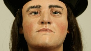 he face of King Richard III is unveiled to the media at the Society of Antiquaries, London