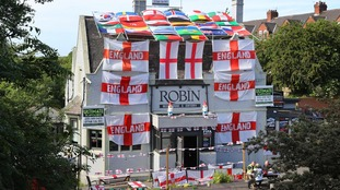 This pub in South Shields went football crazy.