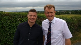 Brian O'Driscoll with UUP councillor Colin McCusker