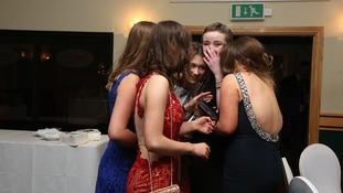 The moment the prom surprise was sprung on Molly.