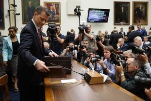 FBI deputy assistant director Peter Strzok on Capitol Hill in Washington