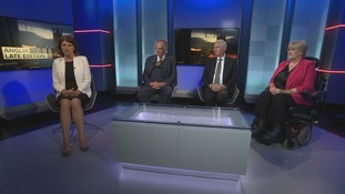 Emma Hutchinson was joined in the studio by Peter Bone MP (Con), Daniel Zeichner MP (Lab) and Baroness Sal Brinton (Lib Dem)