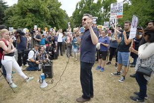 Demonstrators in Regent's Park