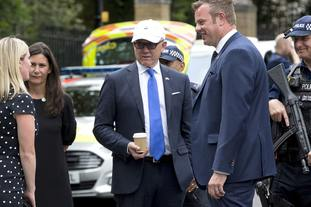 Woody Johnson, US ambassador to the UK, at his official residence in Regent's Park