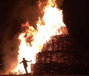 Orangefield Park bonfire in east Belfast