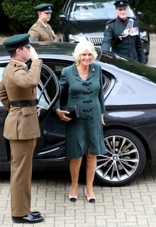 Duchess of Cornwall visits New Normandy Barracks