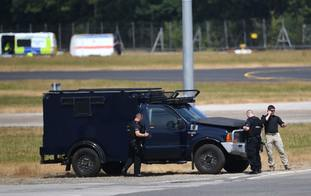 Security personnel at Stansted