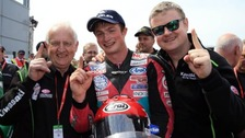 James Cowton won his maiden Interantional Road Race for Northern Irish outfit McAdoo Racing at this year's North West 200 second Supertwin race