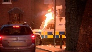 'Attempted murder' as two explosives and 74 petrol bombs thrown at Derry police