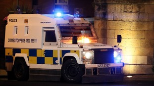 Police vehicles were petrol bombed as disorder flared in the city for a sixth successive night.