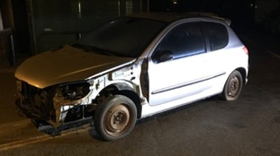 The car was caught being driven in King's Lynn.
