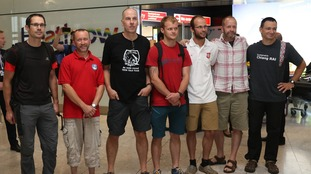 The group arrived back at Heathrow Airport Friday morning.