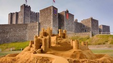 Huge realistic sandcastle unveiled in Kent to promote Britain's real castles