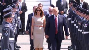 The president touched down on UK soil Thursday.