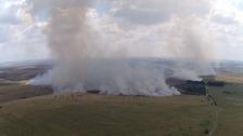 40 mile smoke cloud stops live firing exercises on Salisbury Plain