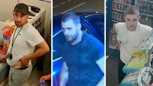 Police are appealing to trace these three men in connection with what happened.