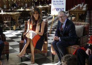 Philip May and the US First Lady Melania Trump.