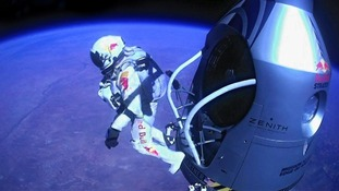 Felix Baumgartner reached speeds of 843.6 mph in record breaking skydive