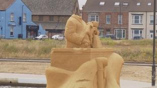 Police investigating alleged vandalism of Redcar WWI sand sculptures