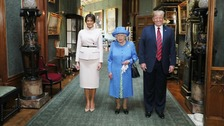 Queen hosts Trump with tea at Windsor Castle