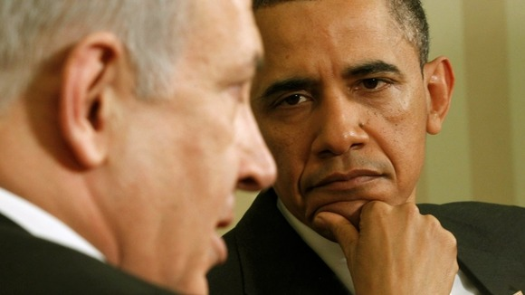 Barack Obama with Benjamin Netanyahu in Washington in 2011