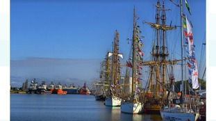 The Tall Ships are preparing to depart.