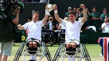 Norfolk's Alfie Hewett wins wheelchair doubles title