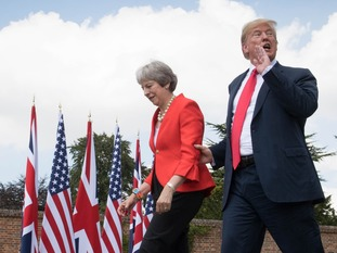 Donald Trump and Theresa May held a press conference at Chequers on Friday.