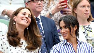The two duchesses take their seats at Centre Court.