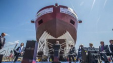 Sir David Attenborough launches research ship on Liverpool