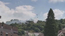 Fire crews spend hours tackling blaze in Pontypridd