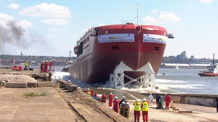 Polar research ship known as 'Boaty McBoatface' launches