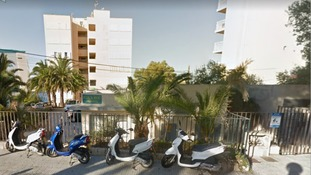 The Eden Roc apartment building in Magaluf.
