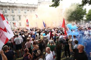 The joint rally took place in Central London.