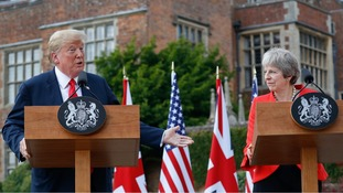 Donald Trump said he understood the PM's reaction to his advice.