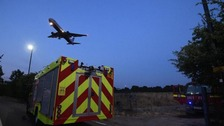 Firefighters extinguish grass blaze near Heathrow