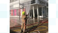 Dumfries reopen after shop fire