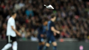 It wasn't that long ago England were being targeted by paper planes.