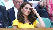 Kate ready for action on Centre Court.