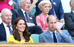 The Duke and Duchess of Cambridge were all smiles at the tennis.