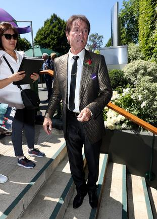 Earlier, Wimbledon stalwart Sir Cliff Richard arrived for the final day.