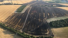 Ten fire engines called to deal with field blaze