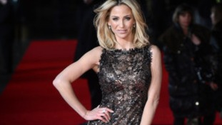 Sarah Harding arrives at last night's premiere of Run For Your Wife