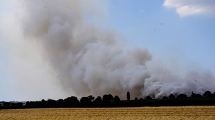 Tinder dry conditions are sparking dozens of field and crop fires across East Anglia.