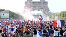 Fans goes wild as France win World Cup final against Croatia