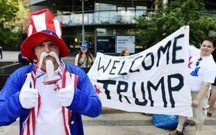 A pro-Trump demo