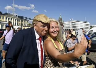 A Trump impersonator